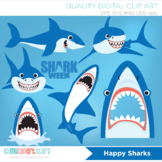 Clipart - Sharks week, deep sea, marine biology