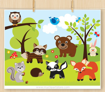 Clipart - Sherwood Forest Animals