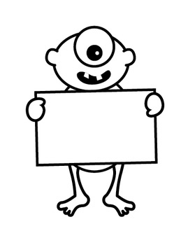 Clipart: Sign Monsters