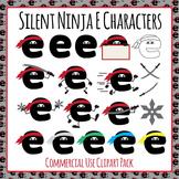 Silent Ninja Es Clip Art Pack for Commercial Use