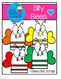 Clipart - Silly Bees
