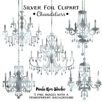 Clipart - Silver Foil Chandeliers