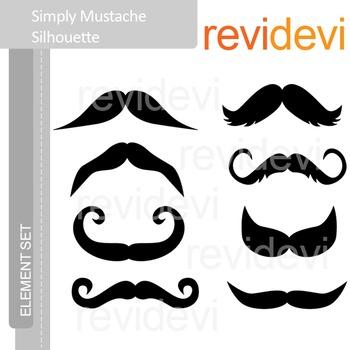 Mustache clip art silhouette