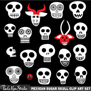 Clipart - Skulls