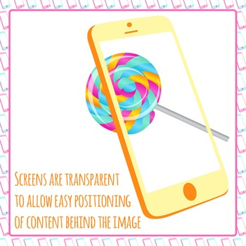 Smart Phone Clip Art Frames for Commercial Use