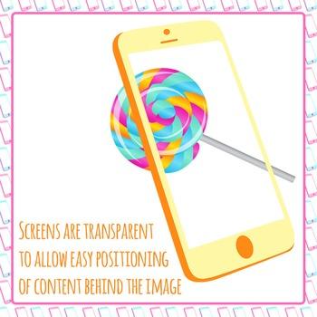 Smart Phone Clip Art Frames for Commercial Use