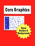 Snow and Snowflake Border and Background Paper Clipart
