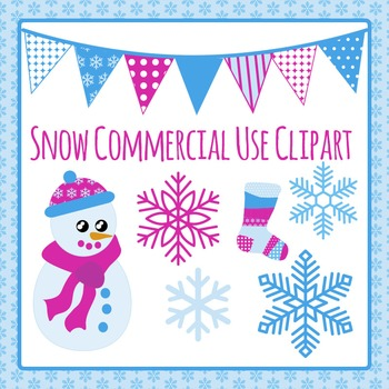 Frozen or Snow or Winter Commercial Use Clip Art Pack