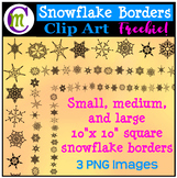 Clipart Snowflake Borders Clipart FREEBIE