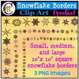 Clipart ♦ Snowflake Borders FREEBIE