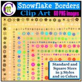 Snowflake Borders Clip Art