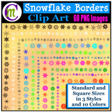 Clipart ♦ Snowflake Borders and Frames (Clip Art)