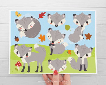 Clipart - So Foxy / Fox / Woodland Animals