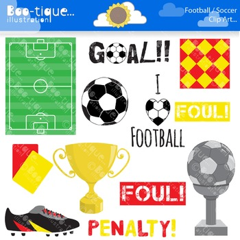 Clipart- Soccer Clipart. Football Clipart. Soccer Clip Art
