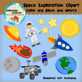 Clipart: Space Exploration - outer space - spaceship