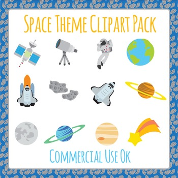 Space Stuff Clip Art Pack for Commercial Use