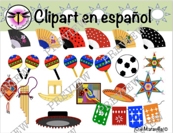 Clipart Spanish Speaking products -Series 1