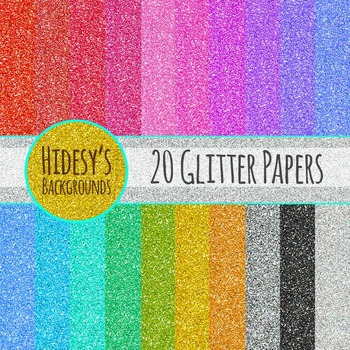 Digital Paper - Glitter Commercial Use Clip Art Pack