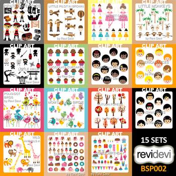 Clipart Special Bundle (kids, party, animals clip art)