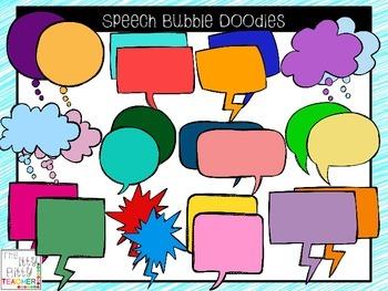 Clipart - Speech Bubble Doodles