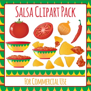 Salsa Clip Art Pack for Commercial Use