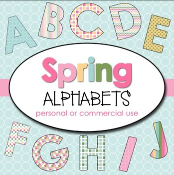 Clipart: Spring Alphabets