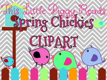 Clipart - Spring Chickies