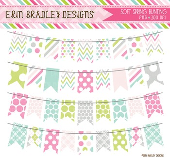 Clipart - Spring Colors Bunting