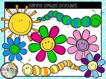 Clipart - Spring Smiles Doodles - 250 Follower Freebie