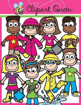 Clipart: Spring Time Kids