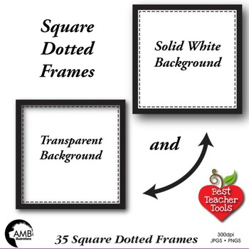 Frames and Labels Clipart, Square Dotted Frames, AMB-1151