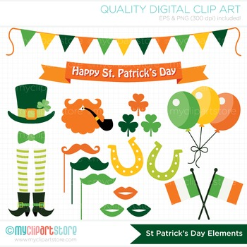 Clipart - St. Patrick's Day Elements