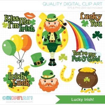 Clipart - St. Patrick's Day / Leprechaun / Lucky Irish