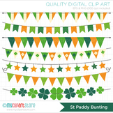Clipart - St Patrick's Day Bunting Flags / Bunting Banners