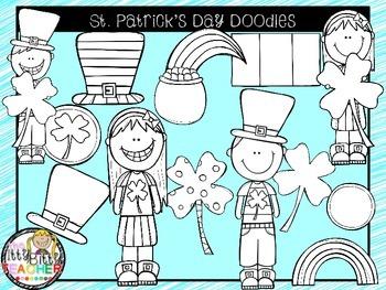 Clipart - St. Patrick's Day Doodles
