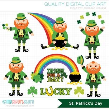 Clipart - St. Patrick's Day / Leprechaun / Pot O' Gold