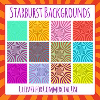 Starburst Backgrounds Clip Art for Commercial Use