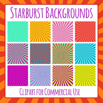 Starburst Backgrounds Clip Art for Commercial Use