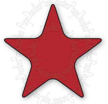 Clipart, Stars, Rounded, for TPT Sellers - High Quality Vector Graphics