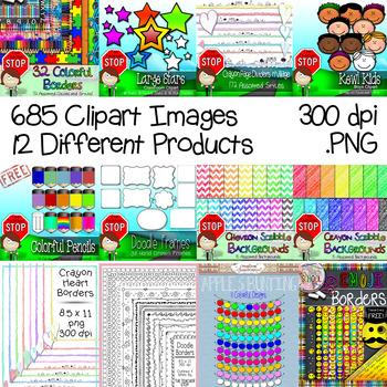 Clipart Starter Kit for TpT Sellers - 685 Images {The Teacher Stop}
