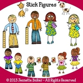 Stick Figure People Clip Art by Jeanette Baker