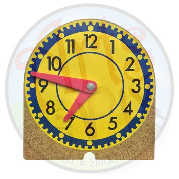 """Back to School"" Clipart Stock Photo of Math Manipulative Clock"