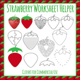 Strawberry Worksheet Helper Clip Art for Commercial Use