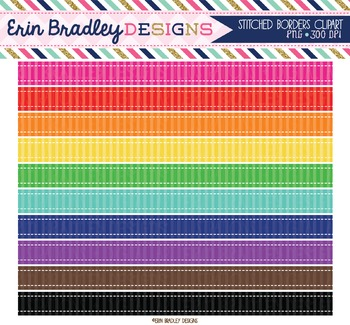 Clipart - Striped Borders