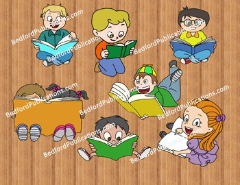 Clipart: Students with books