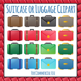 Suitcase or Luggage Clip Art Pack for Commercial Use