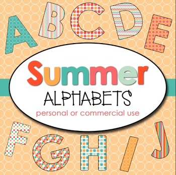 Clipart: Summer 1 Alphabets