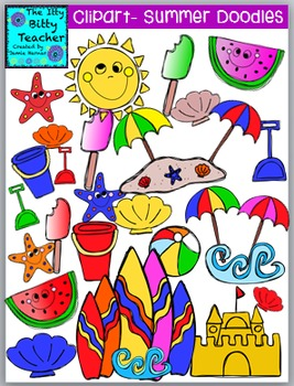 Clipart - Summer Doodles