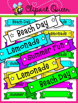 Clipart: Summer Time Banners
