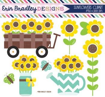 Clipart - Sunflowers
